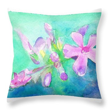 Throw Pillow featuring the painting Tropical Flowers by C Sitton