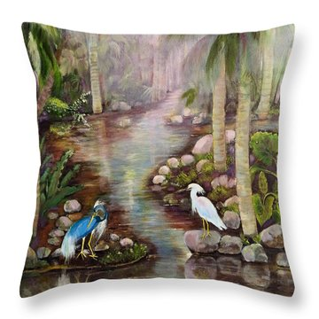 Tropical Fog Throw Pillow