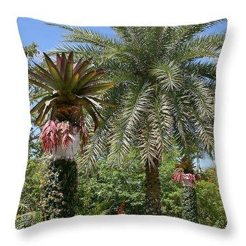 Tropical Garden Throw Pillow by Kim Hojnacki
