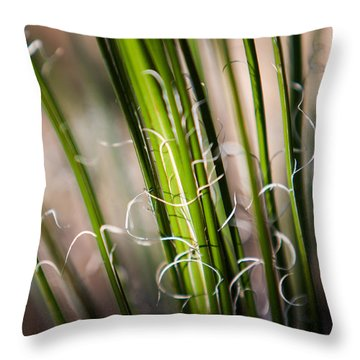 Tropical Grass Throw Pillow