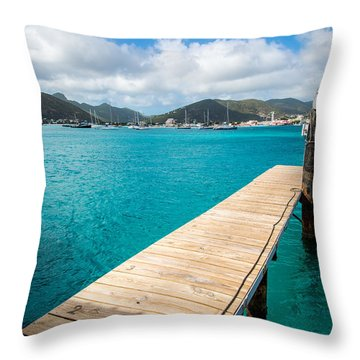 Tropical Harbor Throw Pillow