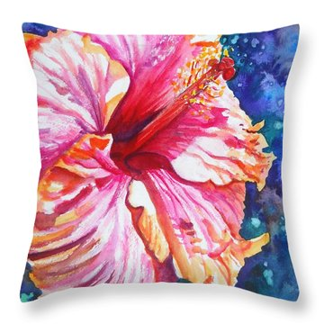 Tropical Hibiscus 4 Throw Pillow