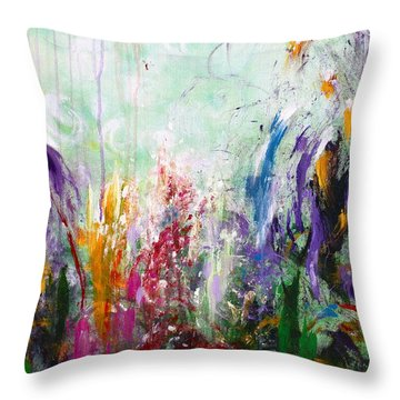 Tropical Journey Throw Pillow by Kume Bryant