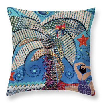 tropical landscapes - On the Edge of the Yucatan Throw Pillow