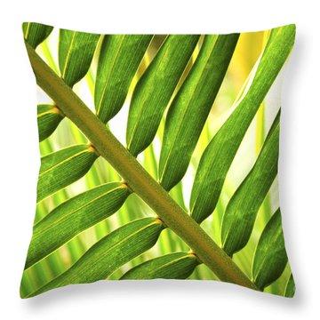 Tropical Leaf Throw Pillow by Elena Elisseeva