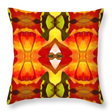 Tropical Leaf Pattern  12 Throw Pillow by Amy Vangsgard