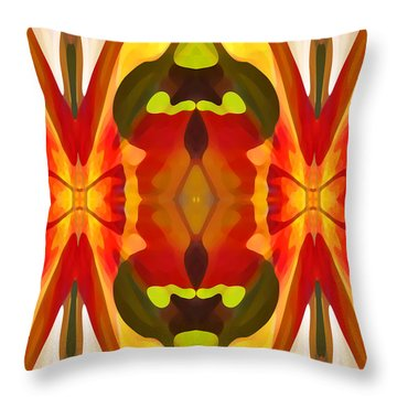 Tropical Leaf Pattern 13 Throw Pillow by Amy Vangsgard