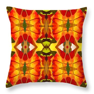 Tropical Leaf Pattern 2 Throw Pillow by Amy Vangsgard