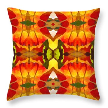 Tropical Leaf Pattern 8 Throw Pillow by Amy Vangsgard