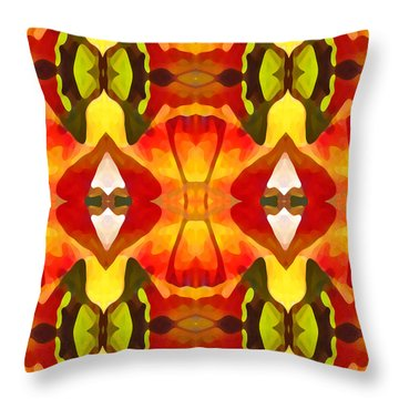 Tropical Leaf Pattern  9 Throw Pillow by Amy Vangsgard