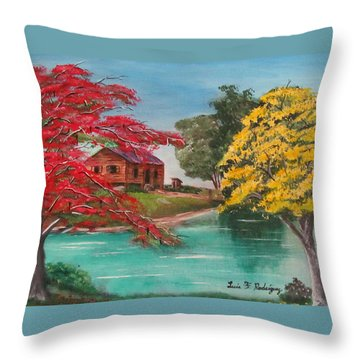 Tropical Lifestyle Throw Pillow by Luis F Rodriguez
