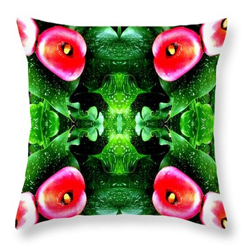 Tropical Lush-us Abstract Throw Pillow by Marianne Dow