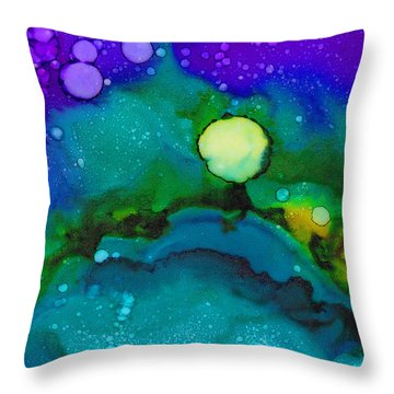 Tropical Moon Throw Pillow