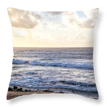 Throw Pillow featuring the photograph Tropical Morning  by Roselynne Broussard