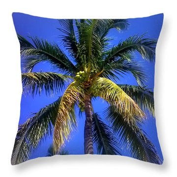 Tropical Palm Trees 8 Throw Pillow