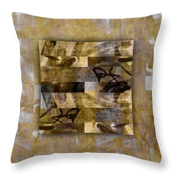 Tropical Panel Number Four Throw Pillow