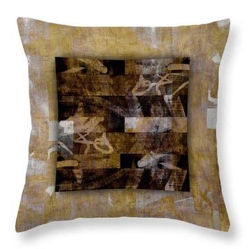 Tropical Panel Number Three Throw Pillow