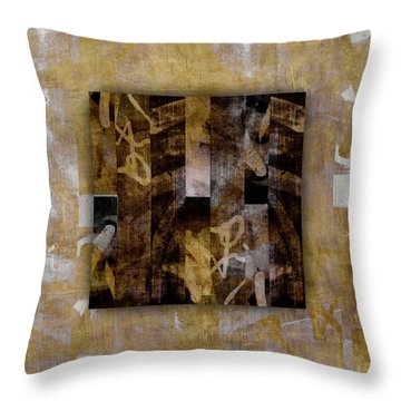 Tropical Panel Number Two Throw Pillow