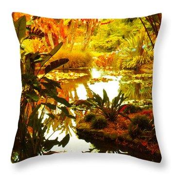 Tropical Paradise Throw Pillow by Amy Vangsgard