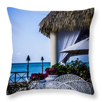 Tropical Paradise Throw Pillow by Sara Frank