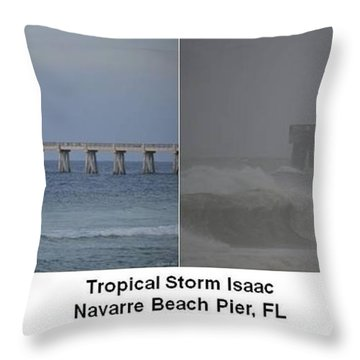 Tropical Storm Isaac Difference In A Day Throw Pillow by Jeff at JSJ Photography