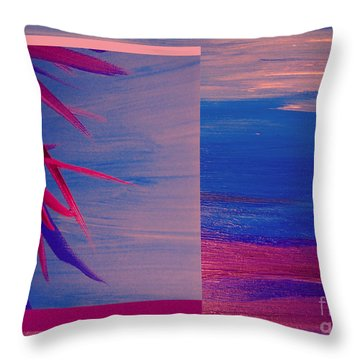 Tropical Sunrise By Jrr Throw Pillow by First Star Art
