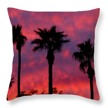 Tropical Sunset Throw Pillow by Laurel Powell
