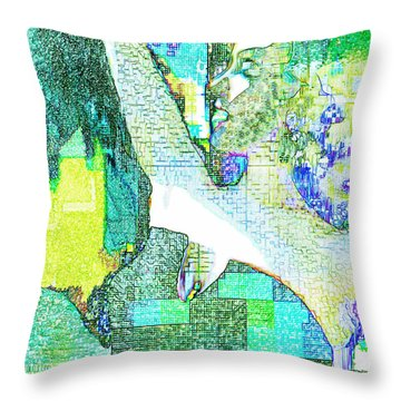 Tropical Tmeptress Throw Pillow by Seth Weaver