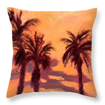 Tropical Trees Throw Pillow