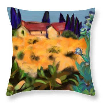 Tropical View Throw Pillow by Christine Fournier