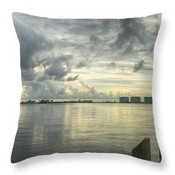 Throw Pillow featuring the digital art Tropical Winds In Orange Beach by Michael Thomas