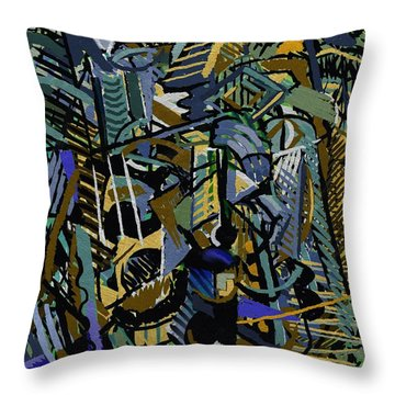 Throw Pillow featuring the digital art Tropicale by Clyde Semler