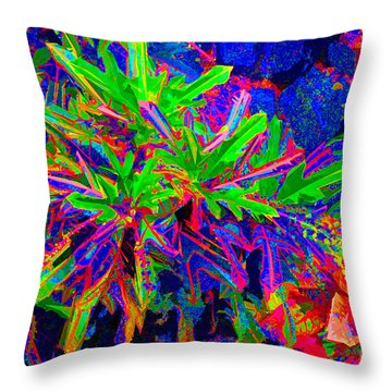 Throw Pillow featuring the photograph Tropicals Gone Wild by David Lawson