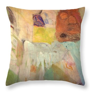 Trouble On The Home Front Throw Pillow