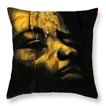 Troubled  Africa Throw Pillow