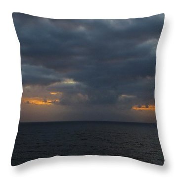 Throw Pillow featuring the photograph Troubled Skies by Jennifer Wheatley Wolf