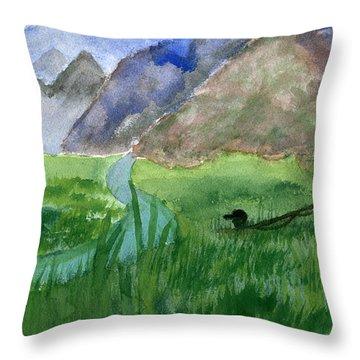 Trout Bum Throw Pillow