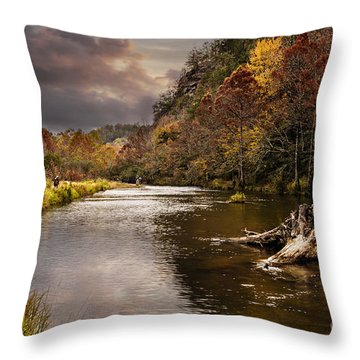 Trout Fishing Throw Pillow by Tamyra Ayles