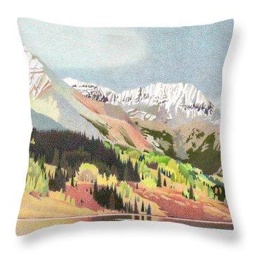 Trout Lake Colorado Throw Pillow