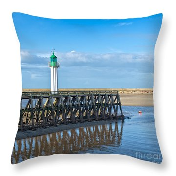 Trouville Lighthouse Throw Pillow