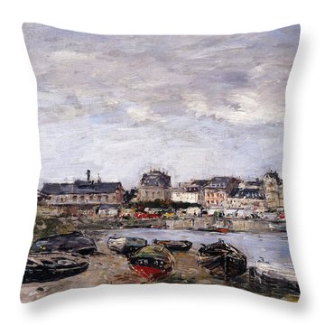 Trouville View Toward Deauville On Market Day Throw Pillow
