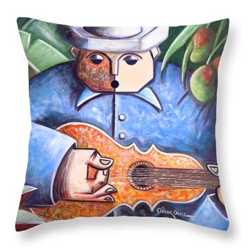 Trovador De Mango Bajito Throw Pillow