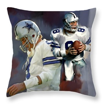 Troy Aikman  Aikam Throw Pillow