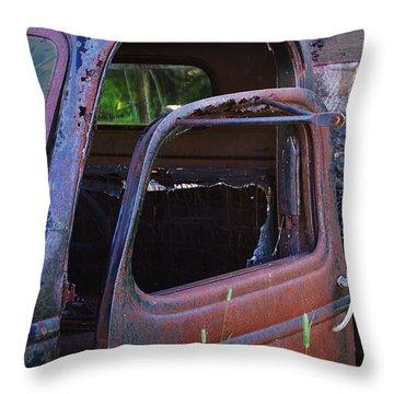 Truck And  Door Throw Pillow by Randy Pollard