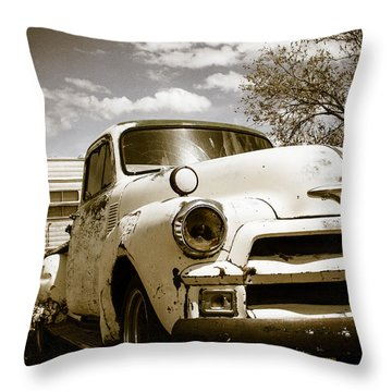 Throw Pillow featuring the photograph Truck And Trailer by Steven Bateson