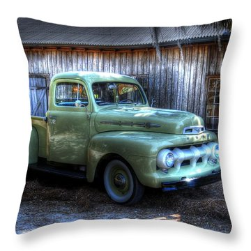 Truck By The Barn Throw Pillow
