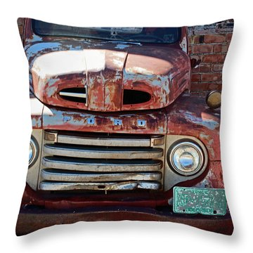 Throw Pillow featuring the photograph Ford In Goodland by Lynn Sprowl