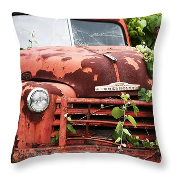 Truck Throw Pillow by John Rizzuto