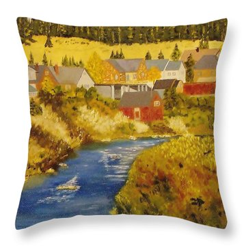 Truckee River - Truckee Ca Throw Pillow
