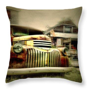 Truckyard Throw Pillow